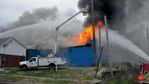 Photo Courtesy of the Palmyra Spectator of a Structure Fire on May 25th
