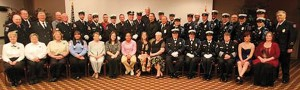 Members of the 2014 EMS Honor Guard conference. Members from the fire funeral assistance team, fire departments, and EMS from all over the state attended. Also attending was Mr.Rande McCrary, Director for the National EMS Memorial, Colorado Springs Co. (right end-2nd row) and Eric Johnson from Supporting heroes, Louisville Ky. And board member for the National EMS Memorial(back row middle) Picture by Don Vaucher, Missouri Fire Funeral Assistant team.