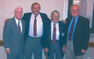 From left to right: Doctor Jim Coleberd, Phil Sayer, Joe Jackson and Bill Westhoff.